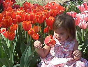 Girl in Tulips